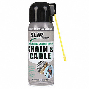 Chain and Cable Graphite Lubricant, 12 oz. Container Size, 12 oz. Net Weight