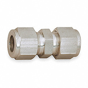 "Carbon Steel Compression Union, 1/4"" Tube Size"