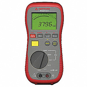 Digital LCD Battery Operated Megohmmeter&#x3b; Insulation Resistance Range: 4/40/400/4000 megohm