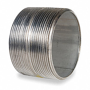 "4"" x Close Thread 316 Stainless Steel Close Pipe Nipple, Pipe Schedule 40, Threaded on Both Ends"