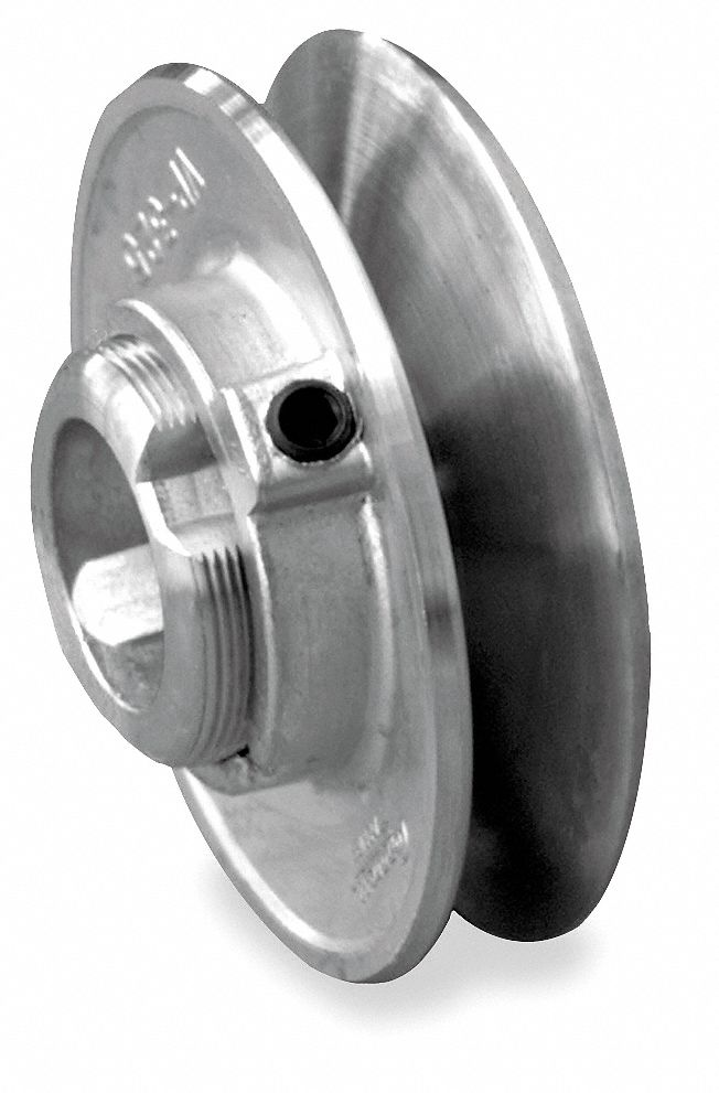 1/2 in Fixed Bore Variable Pitch V-Belt Pulley, For V-Belt Section: 4L, 5L, A, B