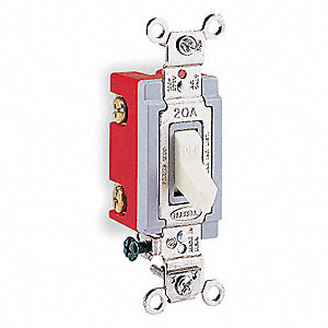 Wall Switch, Switch Type: 1-Pole, Switch Function: Maintained, Style: Toggle