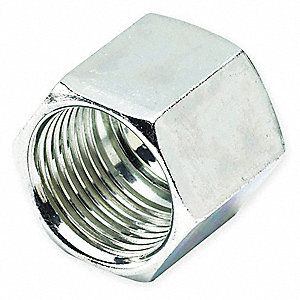 "Nut, 3/8"" Tube Size, Metal"
