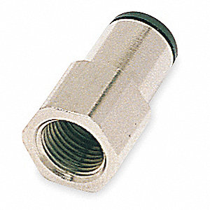 Nickel Plated Brass Female Adapter, 10mm Tube Size