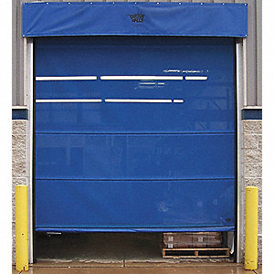 Curtain Mesh Door, Spring Assist Operation, Under Header Mounting, 12 ft. Width, 12 ft. Height