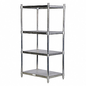 "36"" x 24"" x 74"" Freestanding Stainless Steel Shelving Unit, Natural"