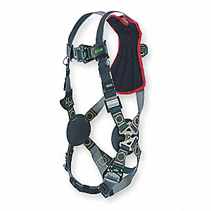 Universal Arc Flash, Construction, Confined Space Full Body Harness, 6000 lb. Tensile Strength, 400