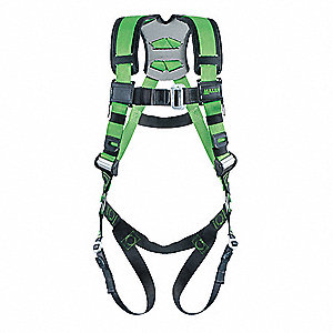 Full Body Harness, Harness Size: L/XL, Weight Capacity: 400 lb., Green
