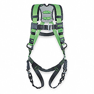 L/XL Construction, Confined Space Full Body Harness, 5000 lb. Tensile Strength, 400 lb. Weight Capac