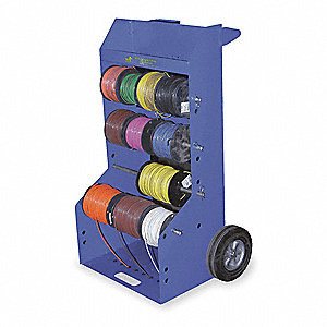 Wire Reel Caddy,Portable,10 Inch Wheels