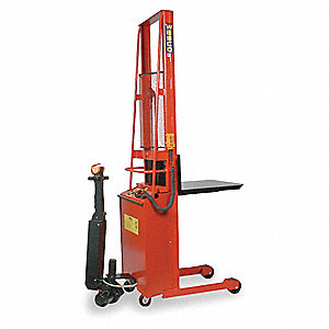 Stacker,Power Drive,Platform,H 68 In