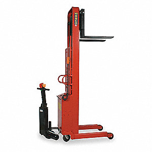 "Stacker, 1000 lb., Fork Width 3"", Fork Length 25"", Lifting Height Max. 64"""
