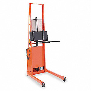 "Stacker, 1000 lb., Fork Width 3"", Fork Length 25"", Lifting Height Max. 56"""