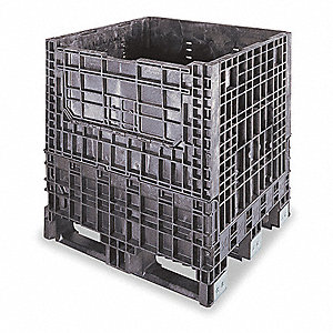 Collapsible Container,32 In L,30 In W,Bl