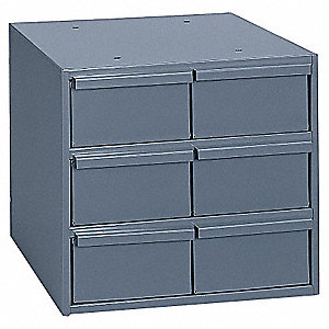 "Drawer Bin Cabinet, 10-7/8"" Overall Height, 11-3/4"" Overall Width, Number of Drawers or Bins 6"