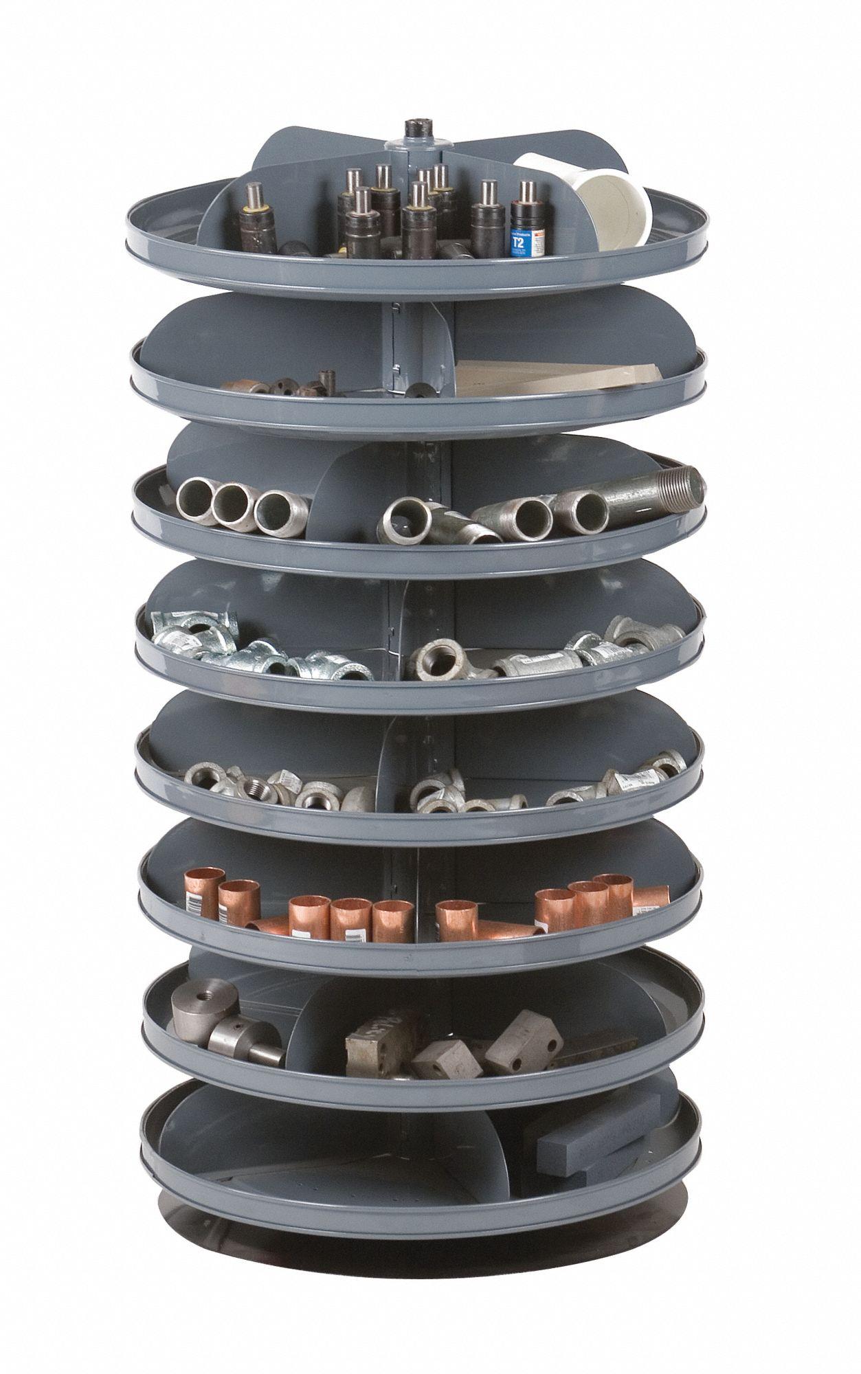 Revolving Storage Bins And Racks