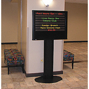 "35"" x 20"" x 68"" Aluminum Electronic Message Sign"