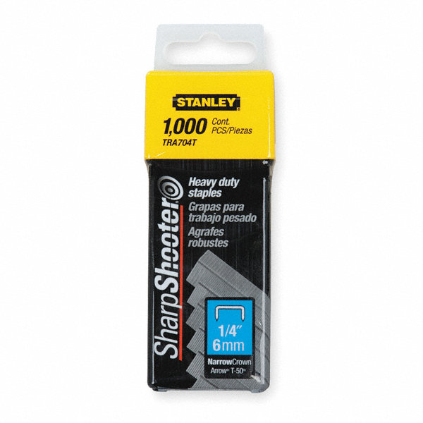 stanley narrow staples 27 64x1 4 in pk1000 1xht4 tra704t