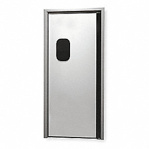 Stainless Steel Swinging Door, Silver&#x3b; Number of Doors: 1, 3 ft.W x 7 ft.H