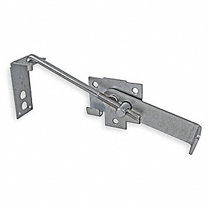 Jamb Latch, Hook, Steel, L 7 In