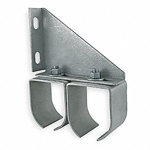 Bracket,Double Rail,Steel,L 5 3/4 In