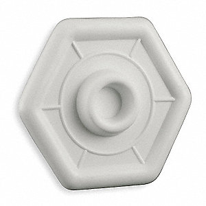 Wall Protector Plate, Almond PVC Plastic, Overall Dia. 3-4/5""