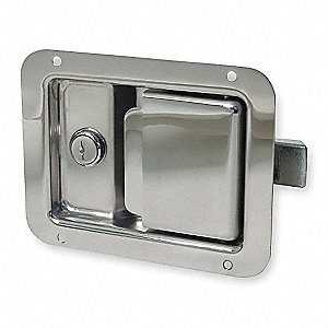 Push-to-Close, Locking, Paddle Latch, 4-1/4