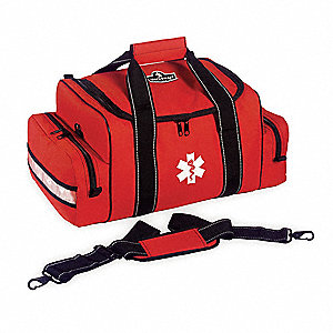 Trauma Bag,8-1/2 x 12 x 19 In,Orange