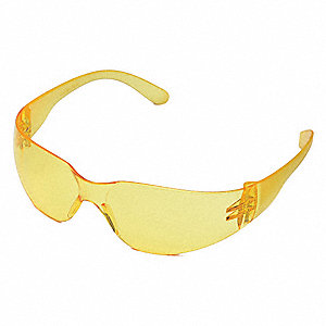 Condor™ V Scratch-Resistant Safety Glasses, Amber Lens Color