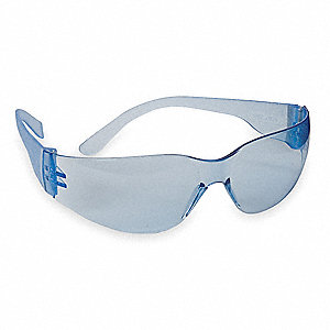 Condor  V Scratch-Resistant Safety Glasses, Light Blue Lens Color
