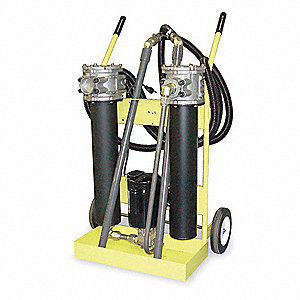 "25-1/2"" x 19"" x 40-1/2"" Hydraulic Oil Filter Cart with 5 Max. Flow GPM"