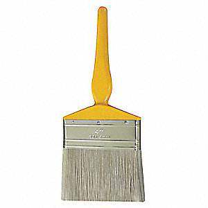 "4"" Flat Sash Synthetic Bristle Paint Brush, Soft, for Oil Based, 1 EA"