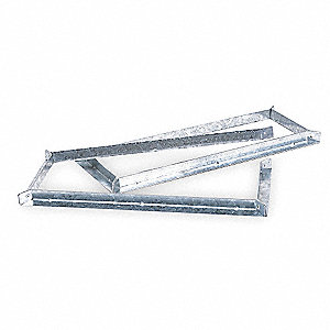 "Square Mounting Bracket, 4"" Height, 4""  Width, 4""  Diameter"