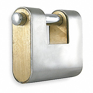 "2-5/16""H Keyed-Alike U-Shaped Keyed Padlock, Shackle: H: 5/8"" W: 1-3/16"" Dia: 3/8"""