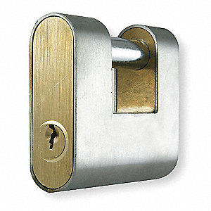 "2-5/8""H Keyed-Different U-Shaped Keyed Padlock, Shackle: H: 3/4"" W: 1-3/8"" Dia: 3/8"""