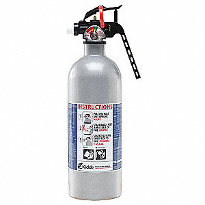 Dry Chemical Fire Extinguisher with 2 lb. Capacity and 8 to 12 sec. Discharge Time