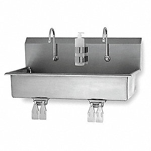 "Wall Hand Sink, 37"" x 16-1/2"" x 8"" Bowl Size"