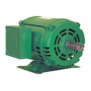 5 HP General Purpose Motor,3-Phase,1755 Nameplate RPM,Voltage 208-230/460,Frame 184T