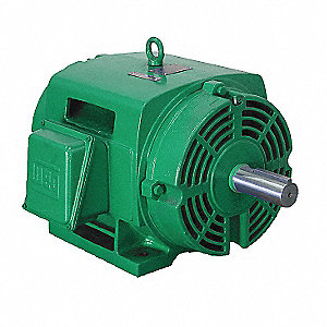 125 HP General Purpose Motor,3-Phase,1780 Nameplate RPM,Voltage 230/460,Frame 405T