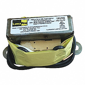 Magnetic Ballast, 22 Max. Lamp Watts, 120 V, Preheat Start, No Dimming