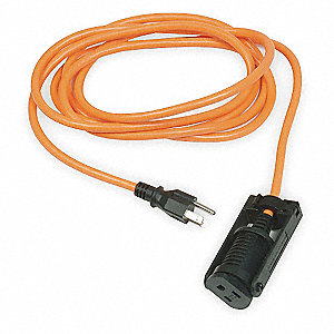 100 ft. Indoor, Outdoor 125V Locking Extension Cord, 10 Max. Amps, Orange