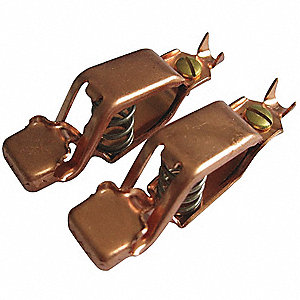 Copper Test and Battery Battery Clip Set with Screw, Crimp Connection,