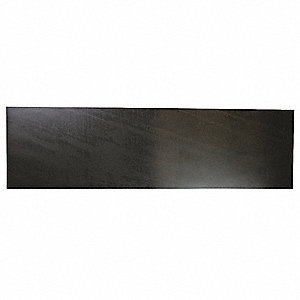 "Buna-N Rubber Strip, 6""W x 3 ft.L x 1/4""Thick, 50A, Plain Backing Type, 300% Elongation, Black"