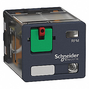 Plug In Relay,11 Pins,Square,120VAC