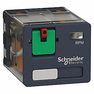 120VAC, 11-Pin Square Base General Purpose Plug-In Relay; AC Contact Rating: 15A @ 277V