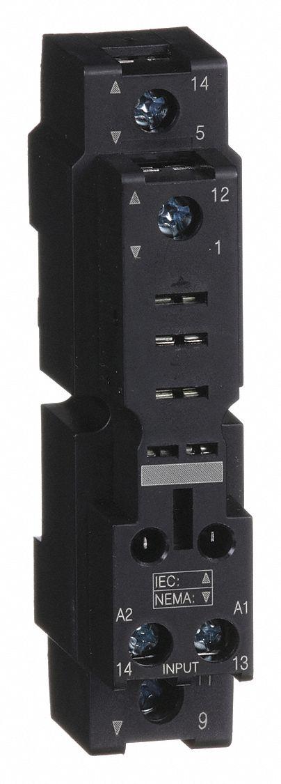 SCHNEIDER ELECTRIC Relay SocketStandardSquare5 Pin16A 1YAA8