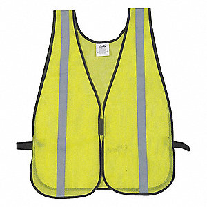 Yellow/Green with Silver Stripe High Visibility Vest, ANSI Unrated, Hook-and-Loop Closure, Universal