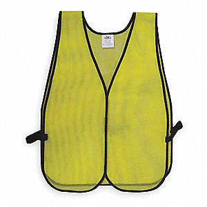 Safety Vest,Mesh,Lime