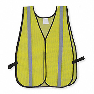 Yellow/Green with Silver Stripe Hi-Visibility Vest, ANSI Unrated Closure, Universal