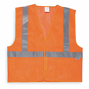 High Visibility Vest,Class 2,5XL,Orange
